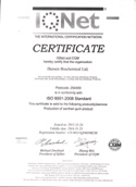 Deosen Xanthan - ISO 9001 Certificate